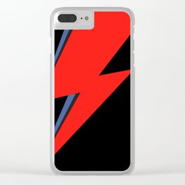 David Bowie Lightning bolt Clear iPhone Case