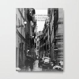 Rain in Rome Metal Print