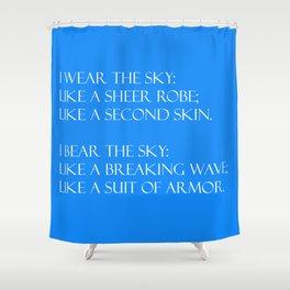 Summer air (blue) Shower Curtain
