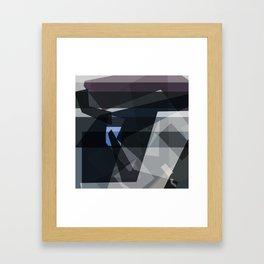 blue in dispassionate collapse Framed Art Print