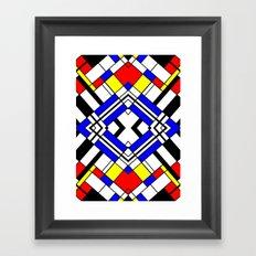 Mondrian-ish. Framed Art Print