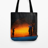 central park Tote Bags featuring Central Park by Nick Duarte
