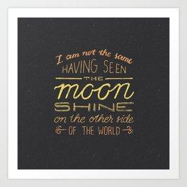 moon quote Art Print