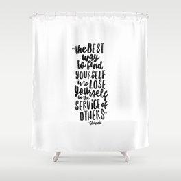 FIND YOURSELF - Ghandi Shower Curtain