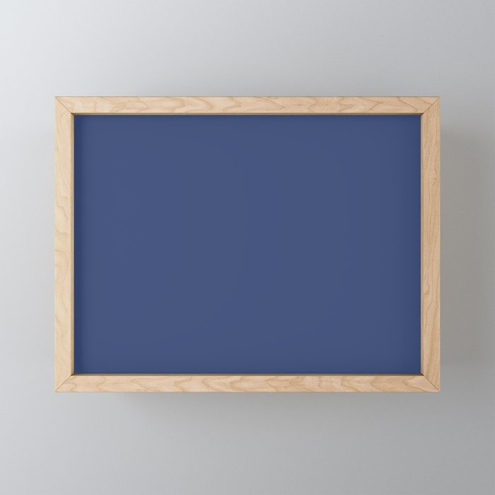 PPG Glidden Daring Indigo (Royal Deep Blue) PPG1166-7 Solid Color Framed Mini Art Print