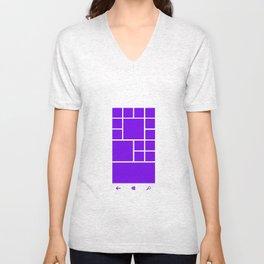 Windows Phone 8 Grid - Purple Unisex V-Neck