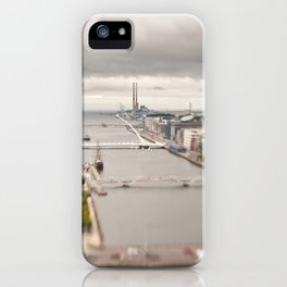 Dublin city center aerial view iPhone Case