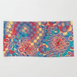 retro psychedelic Beach Towel