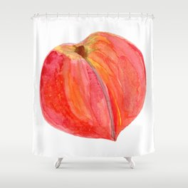 big peach Shower Curtain