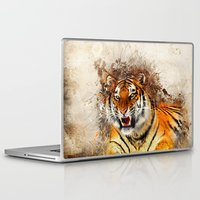 fierce Laptop & iPad Skins featuring Fierce by Robin Curtiss