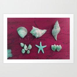The Kaleidoscopic Mermaid Collection Art Print