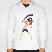 baseball Hoodies featuring Baseball by Freeminds