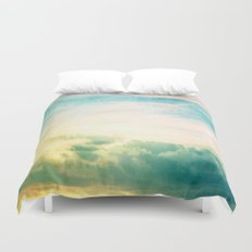 Pastel Abstract Sky  Duvet Cover