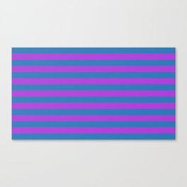 Blue and Purple Stripes Canvas Print