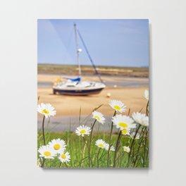 Daisy Boat Metal Print