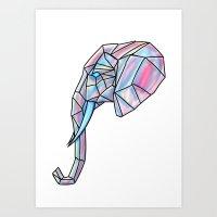 The Infinity Elephant Art Print