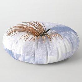 Pine Needles on Fresh Snow 2 Floor Pillow