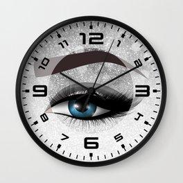 Glam diamond lashes eye #1 Wall Clock