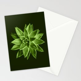 Greenery succulent Echeveria agavoides flower Stationery Cards