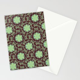 Floral Damask Molasses Stationery Cards