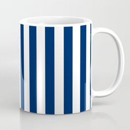 Navy and White Small Even Stripes Coffee Mug