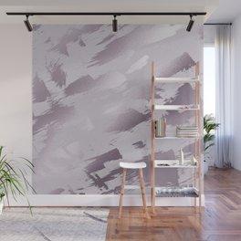 Blush lavender purple abstract glitter brushstrokes Wall Mural