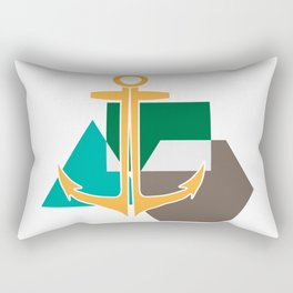 Geometric Anchor Rectangular Pillow