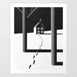 Walking Home/Deposit NY Art Print