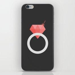 #26 Ruby Ring iPhone Skin
