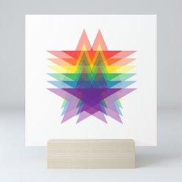 Rainbow Stars Mini Art Print