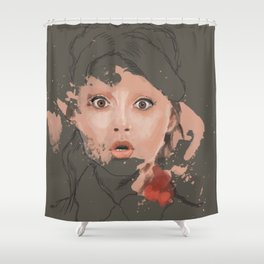 Splash portrait Shower Curtain