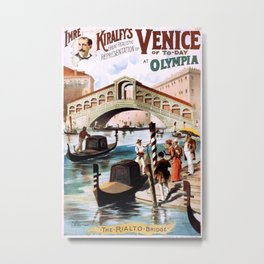 Venice of To-Day at Olympia Metal Print