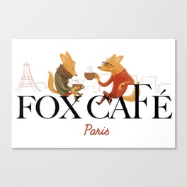 Fox Café Canvas Print