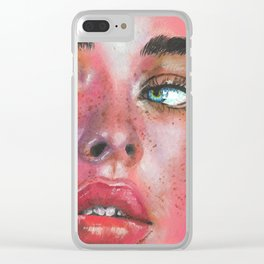 Pink Clear iPhone Case