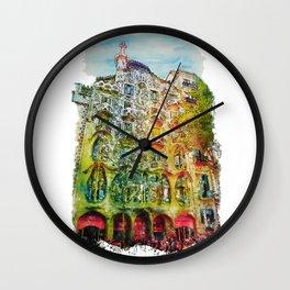 Casa Batllo Barcelona Wall Clock