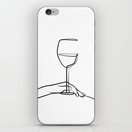 Girl with wine glass  iPhone Skin