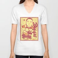 biggie V-neck T-shirts featuring BIGGIE by DaeSyne Artworks