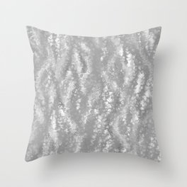 Gray Waves Abstract Throw Pillow