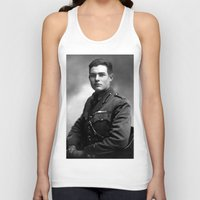 hemingway Tank Tops featuring Ernest Hemingway in Uniform, 1918 by Limitless Design