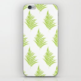 Fern frond silhouettes seamless pattern. iPhone Skin