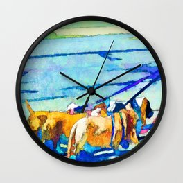 Florence Oregon - Dog Walker Wall Clock