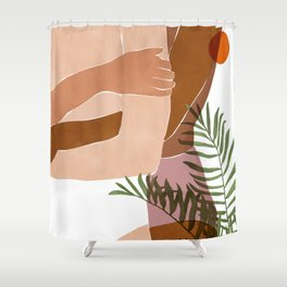 Soul To Soul #painting #illustration Shower Curtain