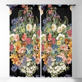 Lush Baroque Floral Blackout Curtain