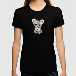 White Tiger Cub With Football Soccer Ball T-shirt