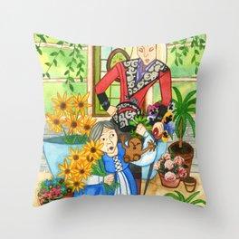 The Mandrake Root Throw Pillow
