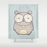hamster Shower Curtains featuring Hamster by Mr and Mrs Quirynen