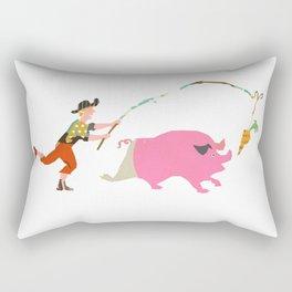 Pig and Carrot Rectangular Pillow