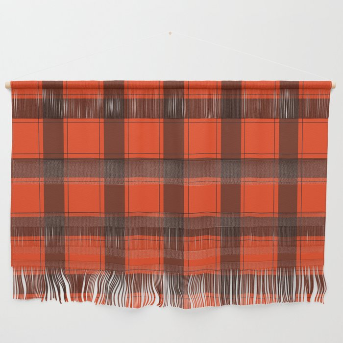 Classic Red Plaid Wall Hanging