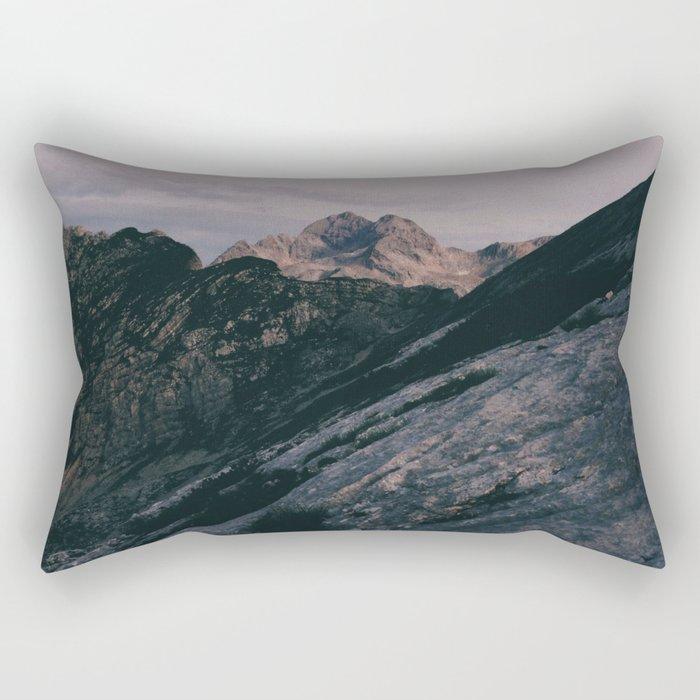 Triglav at sunrise Rectangular Pillow