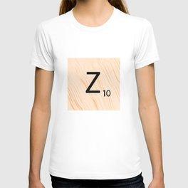 Scrabble Letter Z - Scrabble Art and Apparel T-shirt